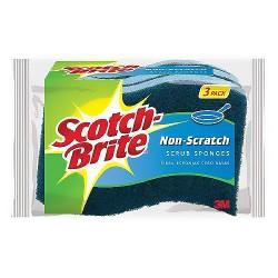 3M Scotch-Brite multi purpose no scratch scrub sponge - 3 Ea