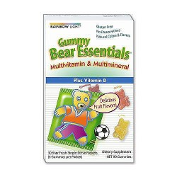 Rainbow Light gummy bear essentials multivitamin and multivitamin packets - 30 ea