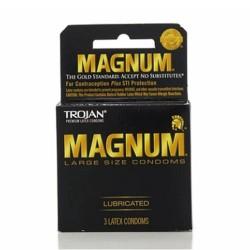 Trojan magnum lubricated large size condoms - 3ea