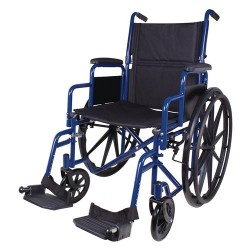 Carex health brands wheelchair, blue - 1 ea