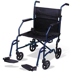 Carex health brands transport chair, blue - 1 ea