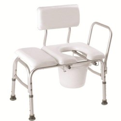 Carex padded tub transfer bench with commode - 1 ea