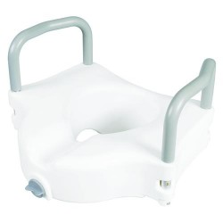 Carex raised toilet seat with arms - 1 ea
