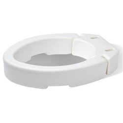 Carex health brands elongated hinged toilet seat riser  - 1 ea