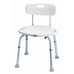 Carex bath and shower seat with back - 1 ea