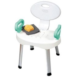 Carex ez bath and shower seat with handles, adjustable - 1 ea