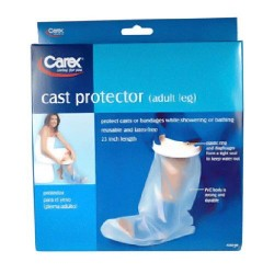 Carex cast protector lower leg, foot and ankle up to the knee, 23 inches - 1 ea