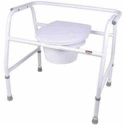 Carex extra wide steel commode - 1 ea