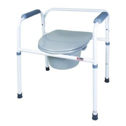 Carex bedside steel 3-in-1 folding commode - 1 ea