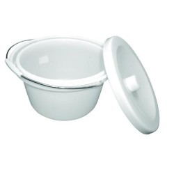Carex commode bucket, lid replacement commode bucket - 1 ea