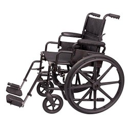 Carex health brands wheelchair, black - 1 ea