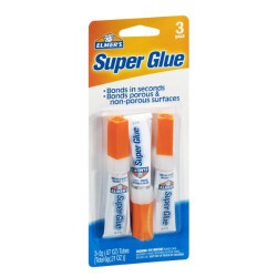 Elmer's Super glue triple pack  - 6 ea