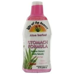 Lily Of The Desert Aloe Vera Gel Herbal Stomach Formula, Mint - 32 oz