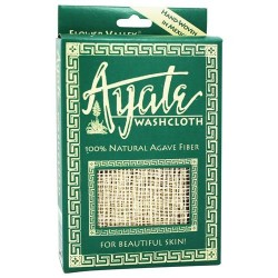 Flower valley ayate hand-woven natural agave washcloth