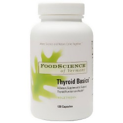 FoodScience Of Vermont thyroid basics vegetarian capsules - 120 ea