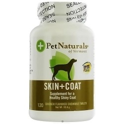 Pet Naturals of Vermont Skin and Coat support for dogs chewable tablets - 120 ea