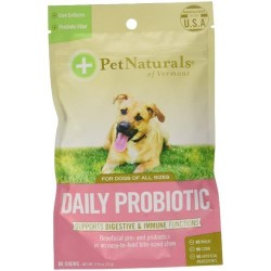 Pet naturals of vermont daily probiotic for dogs, digestive health supplement soft chews  - 60 ea