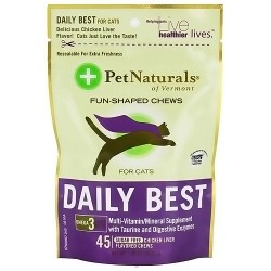 Pet Naturals of Vermont daily best multivitamin/mineral chews for cats - 45 ea