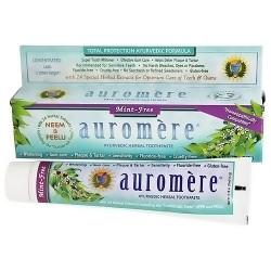 Auromere ayurvedic herbal toothpaste, Mint Free, 4.16 oz