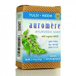 Auromere Ayurvedic Soap Bar, Tulsi-Neem - 2.75 oz