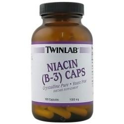Twinlab Niacin B-3 Crystalline Pure 1000 mg Capsules - 100 ea