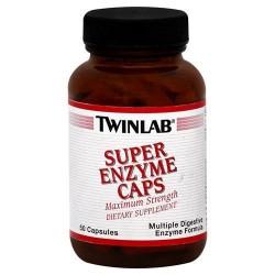 Twinlab super maximum strength enzyme caps - 50 ea