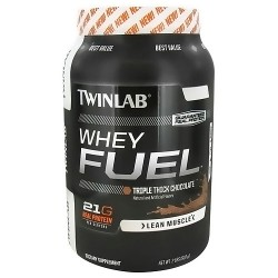 Twinlab Whey Fuel Lean Muscle, Triple Thick Chocolate - 2 lbs