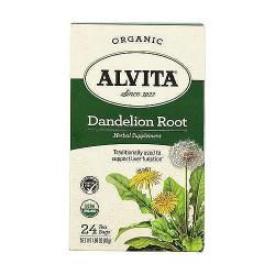 Alvita caffeine free dandelion root roasted tea bags - 24 ea