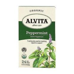 Alvita caffeine free peppermint leaf tea bags - 24 ea