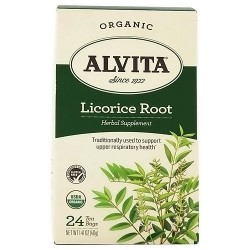 Alvita Teas Organic Caffeine Free Licorice Root Tea Bags - 24 Ea