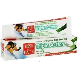 Kiss My Face aloe vera triple action toothpaste, Cool mint freshness - 3.4 oz
