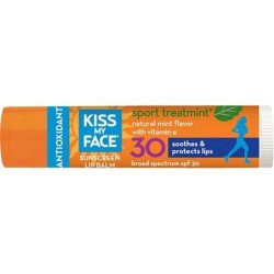 Kiss my face sport treat mint lip balm spf 30  -  0.15 oz  ,12 pack