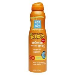 Kiss My Face Kids Defense Continuous Spray Sunscreen Spf 50 - 6 oz