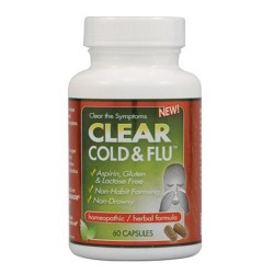 Clear Products Clear Cold and Flu Homeopathic/Herbal Relief Formula Capsules - 60 ea