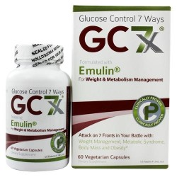 Gc7x - glucose control 7 ways with emulin - 60 vegetarian capsules
