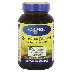 Earthrise Spirulina Natural 500 mg - 180 Tablets