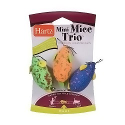 Hartz Mini Mice Trio Cat Toy with Catnip - 3 ea