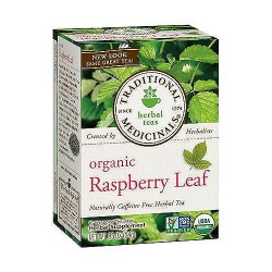 Traditional Medicinals Organic Raspberry Leaf Herbal Tea Bags - 16 ea, 6 pack