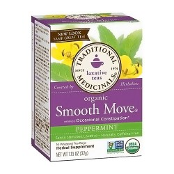 Traditional Medicinals Organic Peppermint Smooth Move Herbal Tea Bags - 16 ea