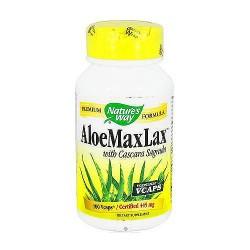 Natures Way Aloe MaxLax with Cascara Sagrada Capsules - 100 Ea
