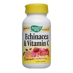 Natures Way Echinacea With Vitamin C Capsules - 100 ea