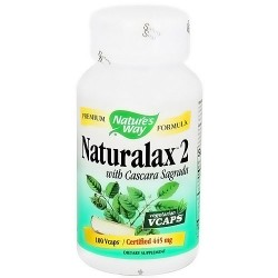 Natures Way Naturalax 2 Vegetarian Capsules with Cascara Sagraada - 100 ea