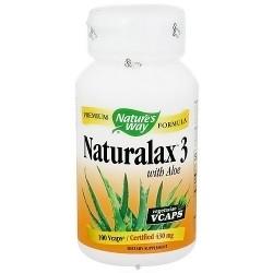 Natures Way Naturalax 3 With Aloe Vegetarian Capsules - 100 ea