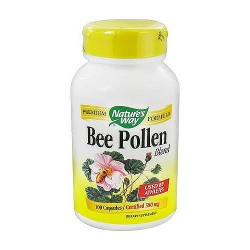 Natures Way Bee Pollen Blend Capsules Used By Athletes - 100 Ea