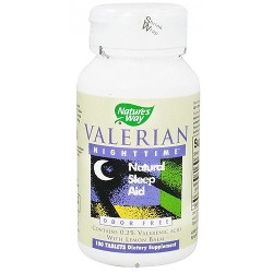 Natures Way Valerian Nighttime Natural Sleep Aid Tablets - 100 ea