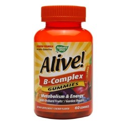 Natures way Alive B-complex gummies, metabolism and energy - 60 ea