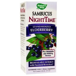 Natures way sambucus nighttime standardized elderberry syrup - 4 oz