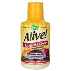 Nature's way alive liquid fiber with prebiotics pomegranate berry - 32 oz