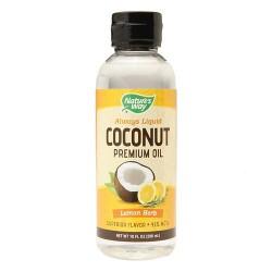 Natures way always liquid coconut premium oil lemon herb - 10 oz