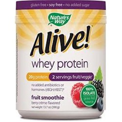 Nature's way alive whey protein grass fed smoothie berry creme - 13.7 oz